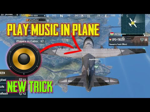 PLAY MUSIC IN PLANE NEW TRICK || PUBG MOBILE ||