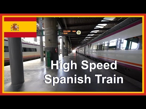 RENFE Spanish Rail Travel In Europe Fast Train Journey In Spain Madrid Railway Station To Toledo
