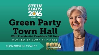Second Green Town Hall - September 23 2016 on Fox Business