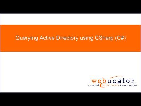 Querying Active Directory using CSharp (C#)