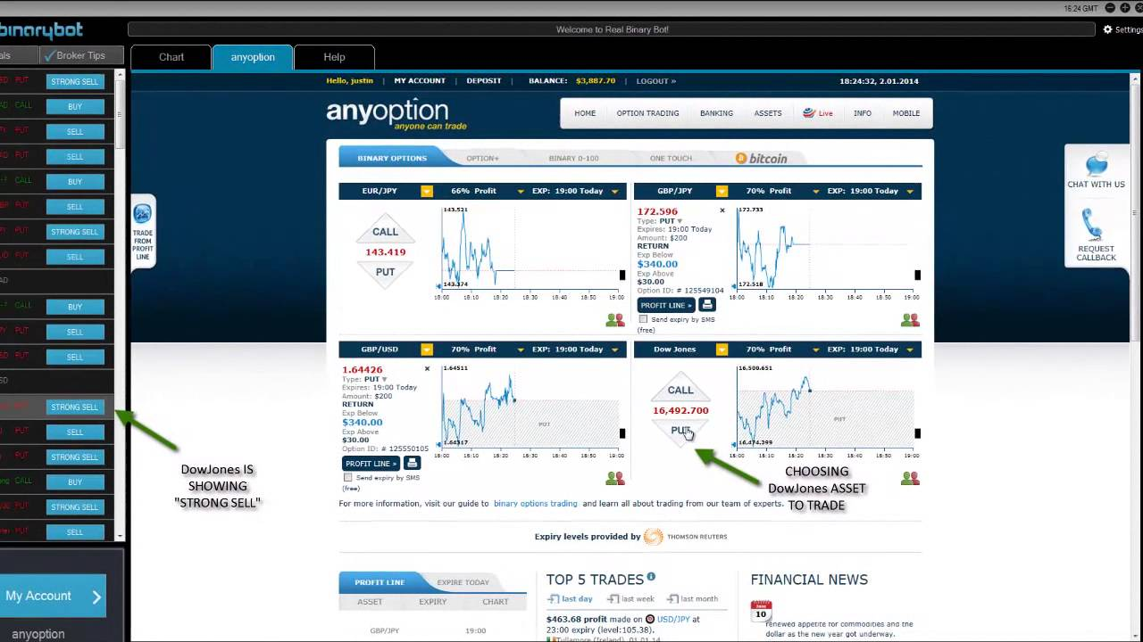 Binary option robot hack