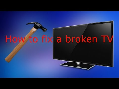 how to fix a broken flat screen lcd led tv with lines or - 480×360