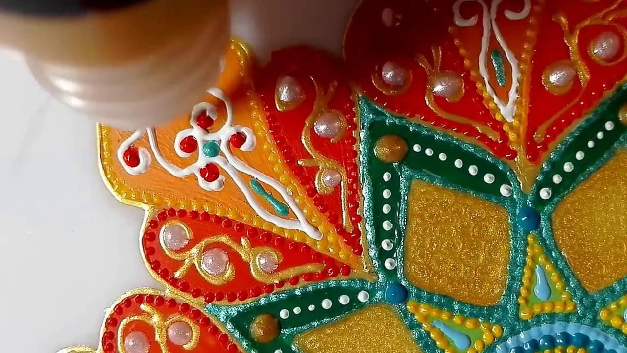 Роспись тарелки от Яны Шапран. Декоративная тарелка на стену .