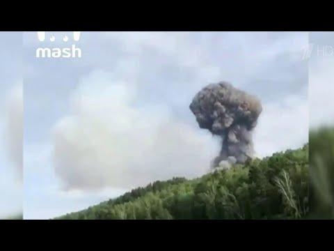 В Красноярском крае произошли взрывы на складе боеприпасов, есть раненые.