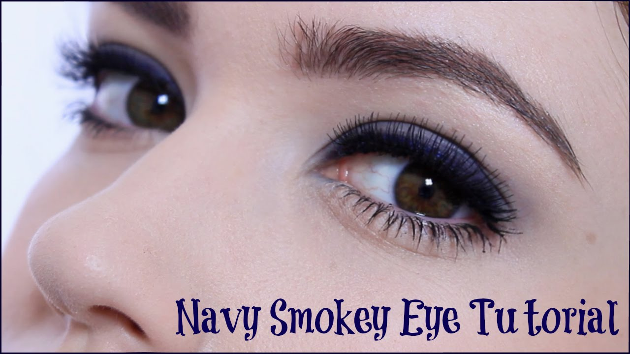 Glamorous Navy Blue Smoky Eye Makeup Tutorial Youtube