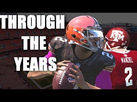 Johnny Manziel Through the Years - NCAA football 13 - Madden 17