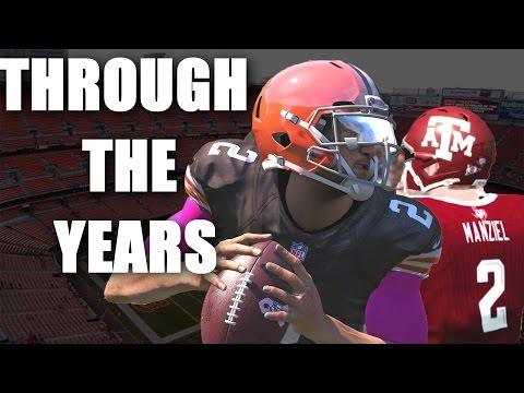 Johnny Manziel Through the Years - NCAA football 13 - Madden 17