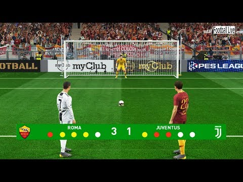 PES 2019 | AS Roma vs Juventus FC | Penalty Shootout | Gameplay PC