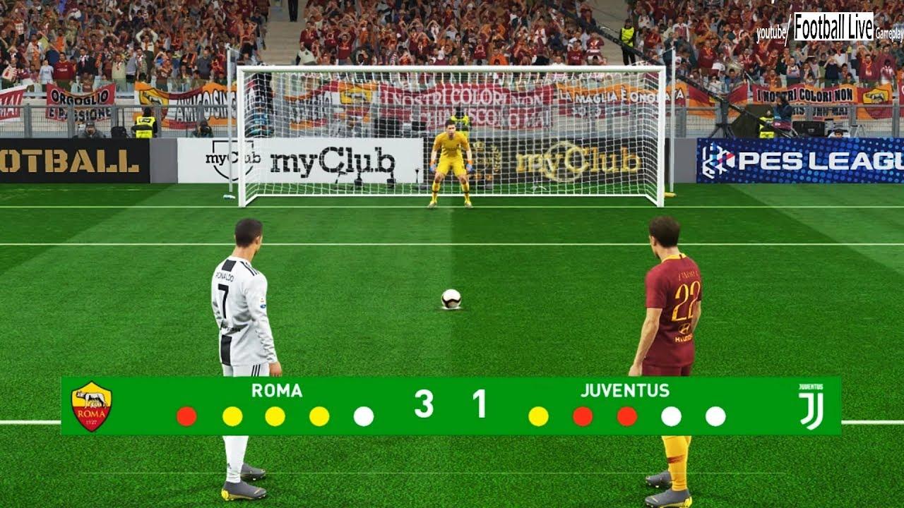 Pes 2019 As Roma Vs Juventus Fc Penalty Shootout