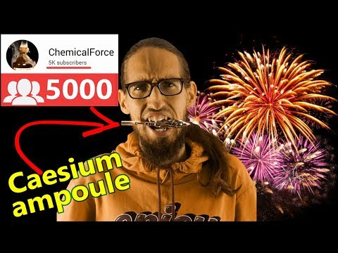 5K SUBSCRIBERS! I Crack An Ampoule With CAESIUM!