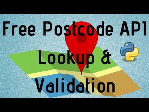 Postcode API Lookup Validation Python 3 Implementation Tutorial Free