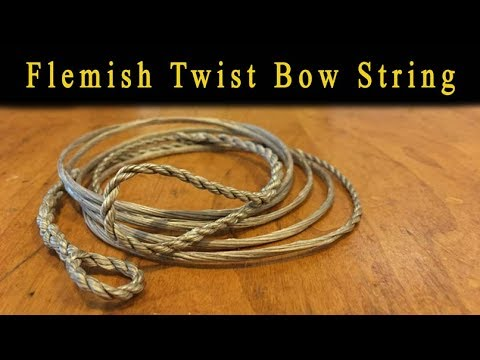 How to make a Flemish Twist bow string