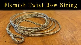 How to make a Flemish Twist bow string.