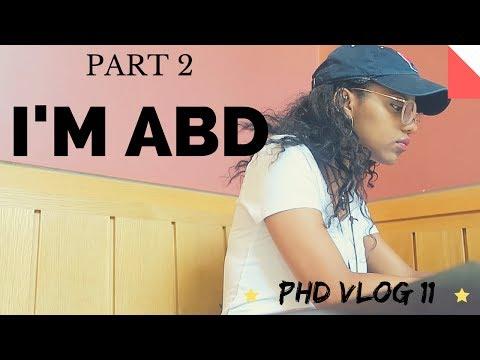 PHD VLOG #11| I'M ABD! | PART 2 | | SCHOLAR NOIRE