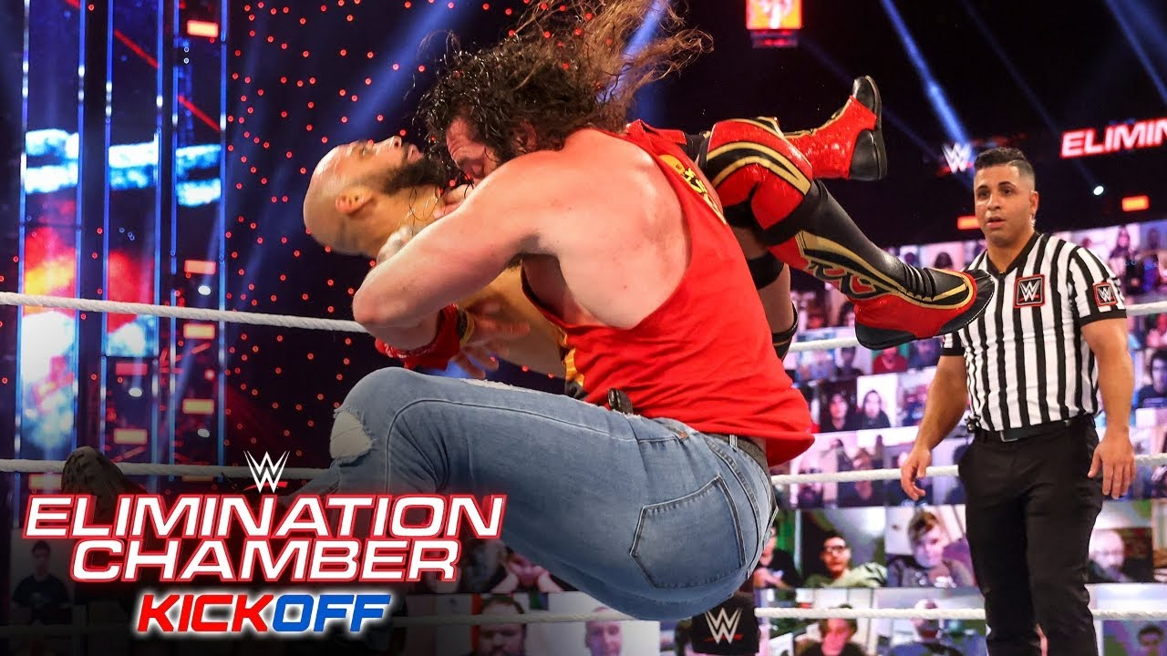Elias grounds Ricochet with powerful assault: WWE Elimination Chamber Kickoff Show 2021