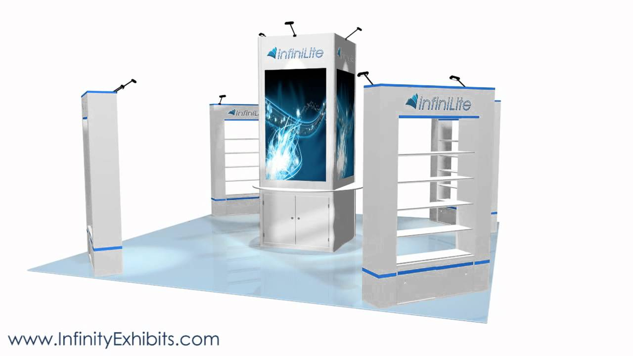 Trade Show Booth With Shelves : Ft island trade show display booth with center