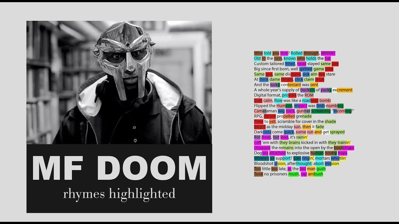 MF DOOM - Rap Ambush - Lyrics, Rhymes Highlighted (093)