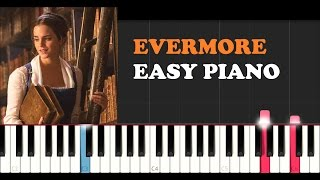 Video Beauty and the Beast Soundtrack - Evermore (EASY Piano Tutorial) download MP3, 3GP, MP4, WEBM, AVI, FLV Juni 2018