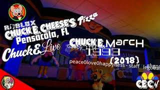 Roblox Chuck E. Cheese's Pizza Pensacola, FL Chuck E. March 1993