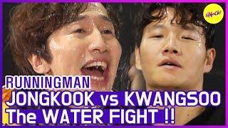 [HOT CLIPS] [RUNNINGMAN]   JONGKOOK vs. KWANGSOO💥 The WATER FIGHT💧 (ENG SUB)
