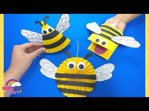 paper-crafts-for-kids-|-how-to-make-a-paper-bee