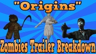 """Black Ops 2"" Origins Zombie Trailer Breakdown! (Original Crew, Metal Man, Secret Image!)"