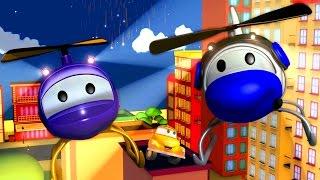 Tom der Abschleppwagen und Hector der Helikopter in Car City | Lastwagen Bau-Cartoon-Serie Kinder
