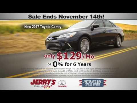 Jerry's Toyota Veteran's Day Savings In Baltimore Maryland