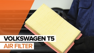 How to replace engine air filter on VOLKSWAGEN T5 TUTORIAL | AUTODOC