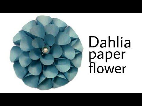 Dahlia Paper Flower  Method 2|Decoration Flower|Best Decoration Flower|Big  Dahlia As Wall Decor