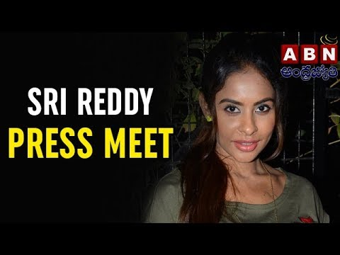 Actress Sri Reddy Press Meet Over Casting Couch At Basheerbagh Press Club LIVE | ABN LIVE