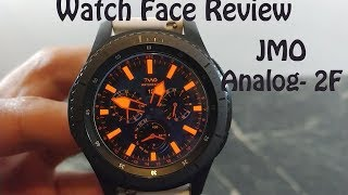 Watch Face Review : JMO Anlalog Diver Gear S2 Gear S3 Gear Sport