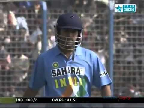 MS Dhoni debut - First ball in international cricket _FAIL_ - India v Bangladesh Chittagong 2004 - YouTube