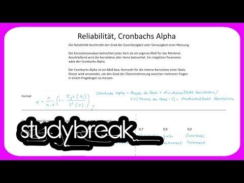 Reliabilität, Cronbachs Alpha