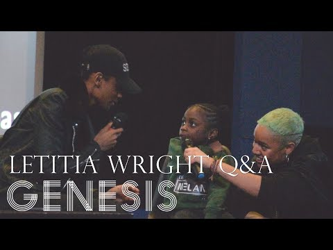 BLACK PANTHER Q&A - Letitia Wright Gets Asked The Cutest Question Ever streaming vf