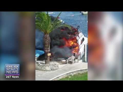 Bermuda Fire Service Battle Boat Blaze, June 27 2017