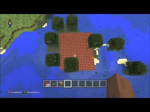 MineCraft blowing up a island