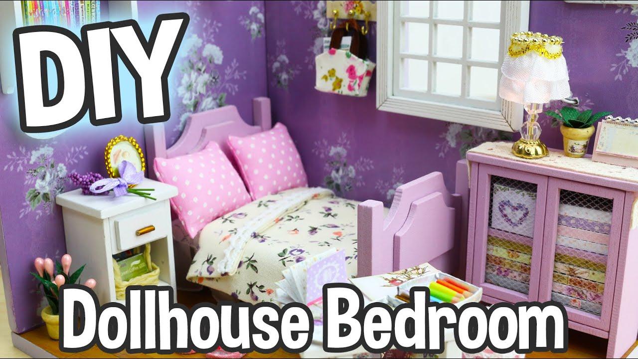 Miniature Dollhouse Bedroom Furniture Diy Miniature Dollhouse Kit Cute Bedroom Roombox With Working