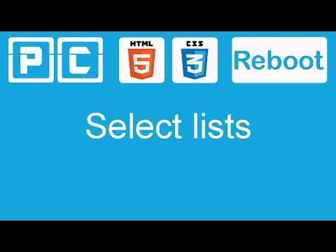 HTML5 And CSS3 Beginners Tutorial 46 - Select Lists