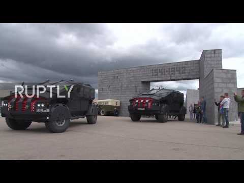 VIRAL: Putin's cutting-edge Batmobiles drive to Crimea for FSB exercises