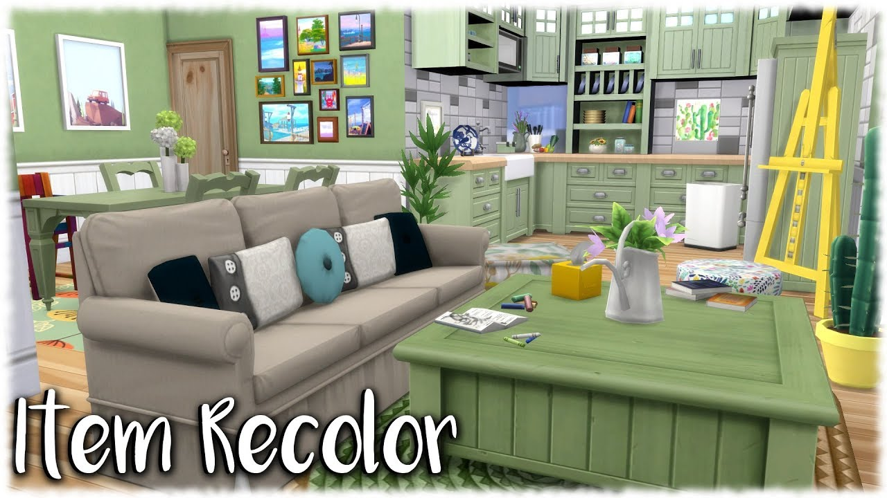 Sofa Bed With Storage Box Serta Convertible Lounger The Sims 4: Speed Build // Item Recolors + Cc Links - Youtube