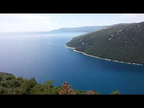 Plomin, Croatia, view from the top, eagle view, July 2016