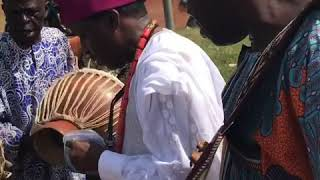 GODS AND HEROES BOOK TOUR 1 - Dr Oladele Olusanya welcomed with talking drums to Alaafin palace