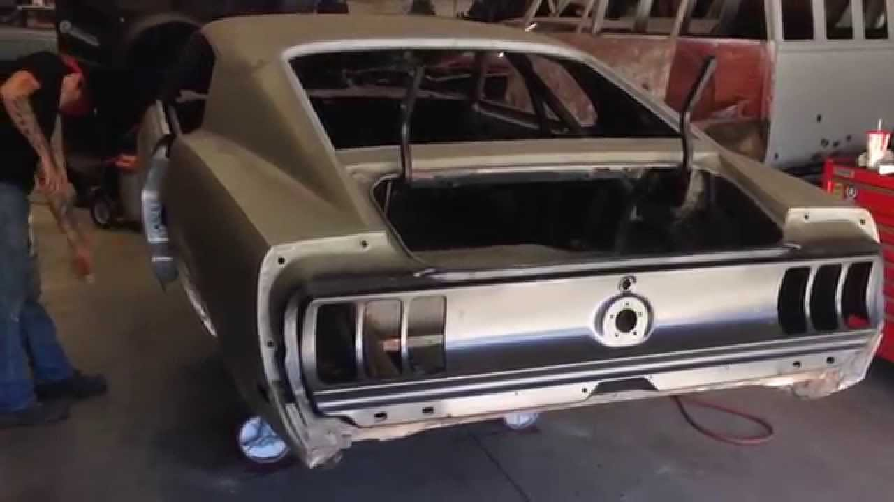 Tail light panel done on alexs 1969 mach 1 restoration project day 42 part 2 youtube