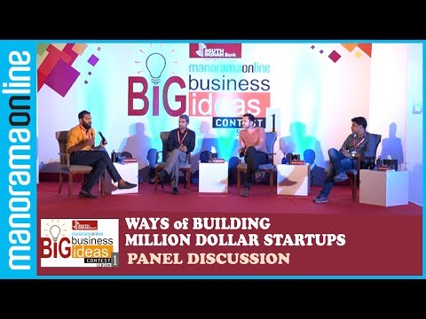 Big Business Idea Contest | Panel Discussion | Ways of Building Million Dollar Startups