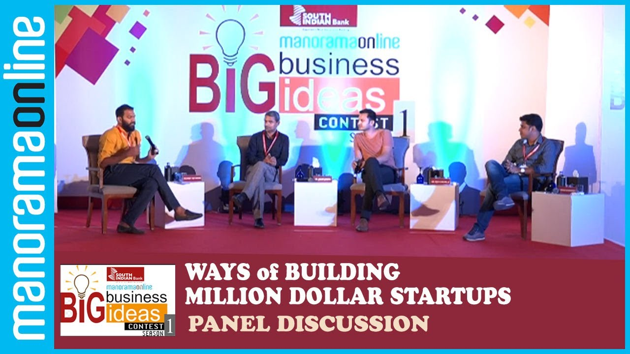 Big Business Idea Contest Panel Discussion Ways Of Building Million Dollar Startups