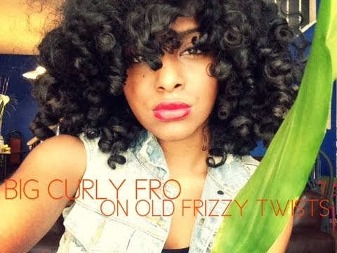 totally twisted big curly fro