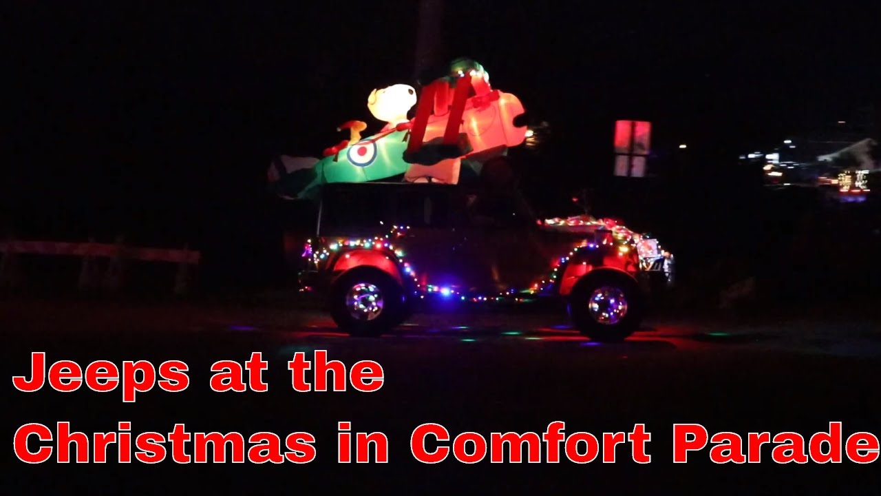 Christmas In Comfort 2020 Jeeps at the Christmas in Comfort Parade 2019   YouTube