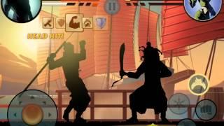 Shadow Fight 2 битва с Осой