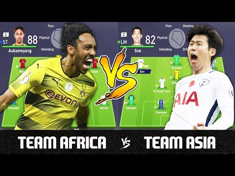 Team Africa VS Team Asia - FIFA 18 Experiment
